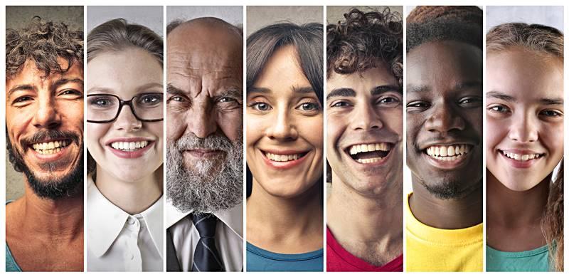 Diferentes razas y etnias en una misma especie, en este caso la humana