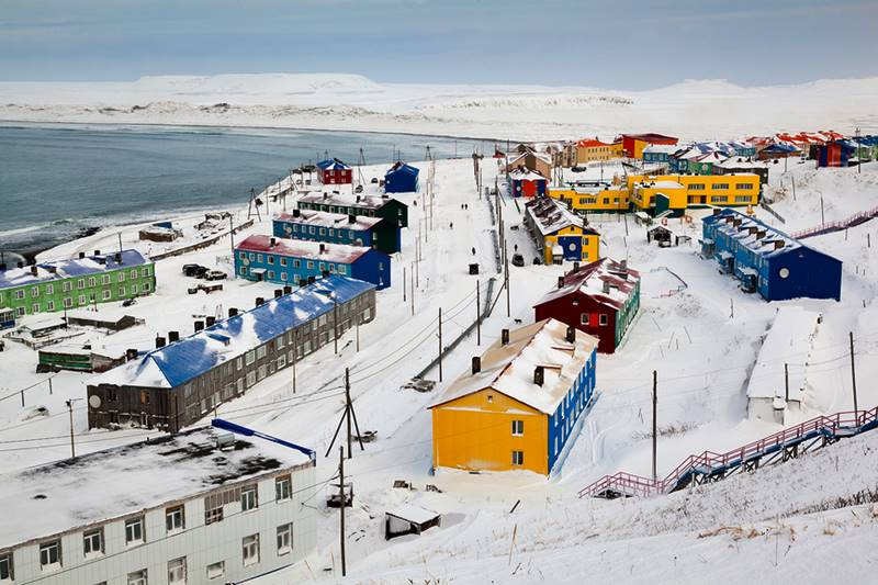 Nikolsky un pequeño pueblo de pescadores, ubicado en la isla de Bering