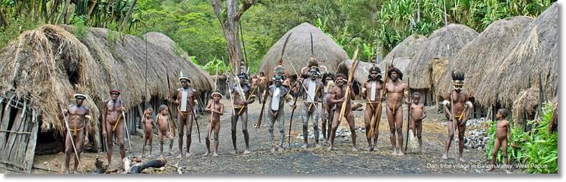 Poblado de la tribu asmat - etnias.net
