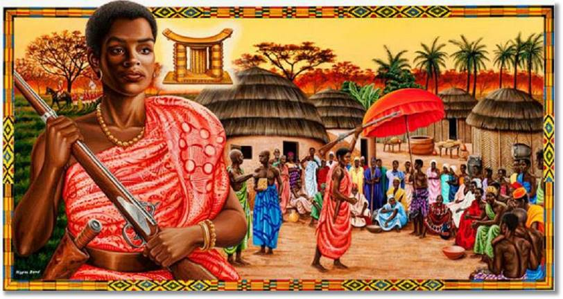 Representación gráfica del poder de la reina madre ashanti