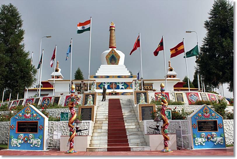 Tawang War Memorial construido en conmemoración de la guerra de 1962