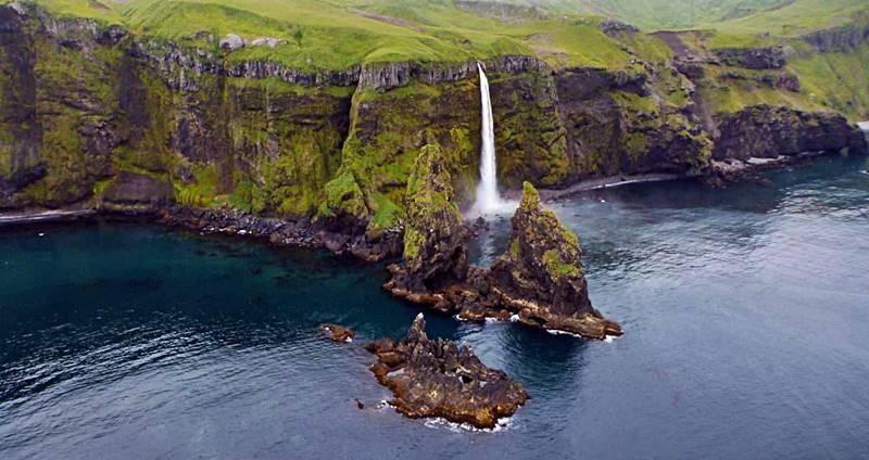 Paiseaje espectacular de las islas aleutas