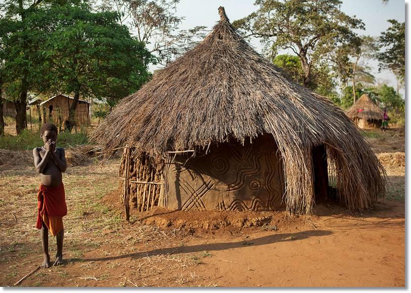Vivienda tradicional Anuak