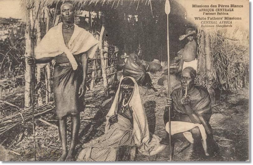 Fotografía antigua de una familia ankole