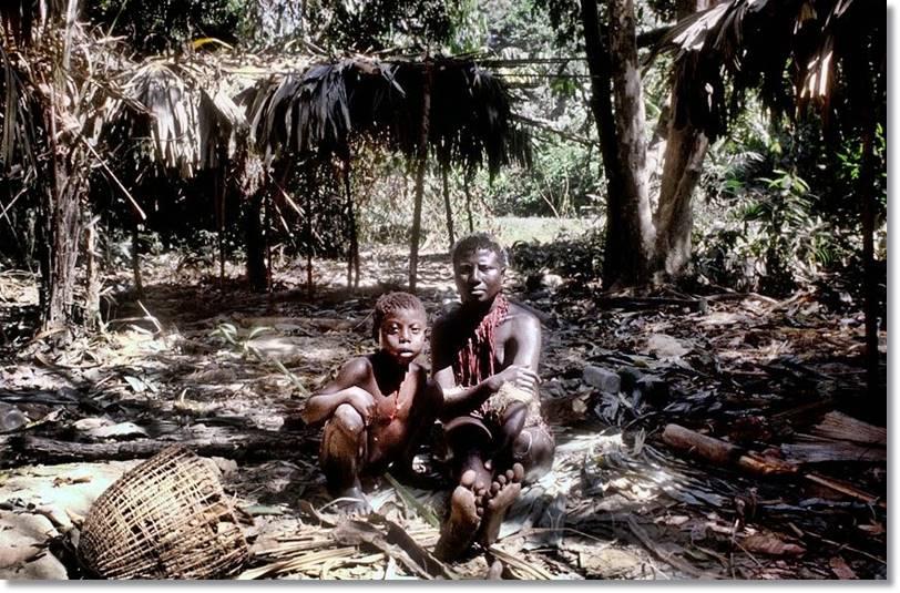 Aunque las condiciones de vida de las tribus andameneses han mejorado en los últimos años, sus costumbres parecen prehistóricas - etnias.net