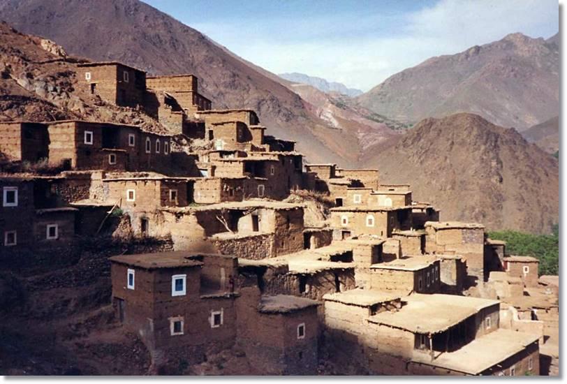 PUeblo bereber del alto Atlas