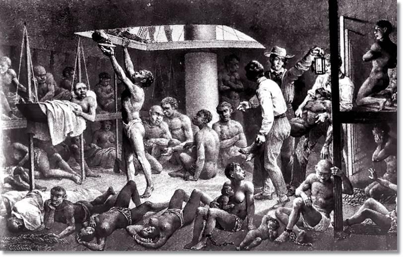 Como es de imaginar, las condiciones de salubridad y comodidad no eran las más ideales para los negros que eran traidos hasta América para ser utilizados como esclavos - etnias.net
