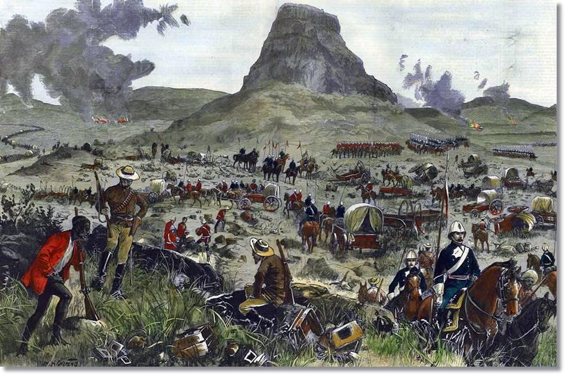 El descubrimiento de minas de carbón y sobre todo diamántes originó las ostilidades del Imperio Británico con los boers o afrikaners - etnias.net