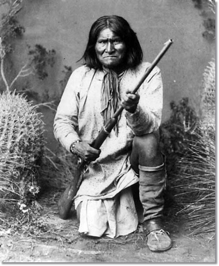 El legendario Jerónimo retratado en 1886 - etnias.net