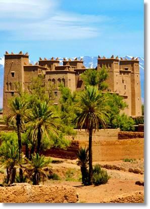 En todo el Atlas marroquí se hallan estos majestuosos castillos construidos con ladrillos de barro y paja