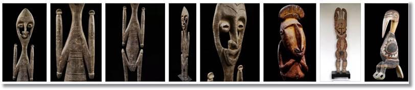 Esculturas realizadas por los arapesh - etnias.net