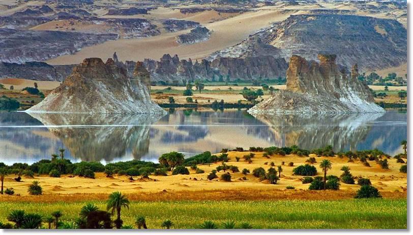 Lago Chad, supone el límite aproximado hasta donde se desplazan los baggara con su ganado. El otro extremo se encuentra en el valle del Nilo - etnias.net