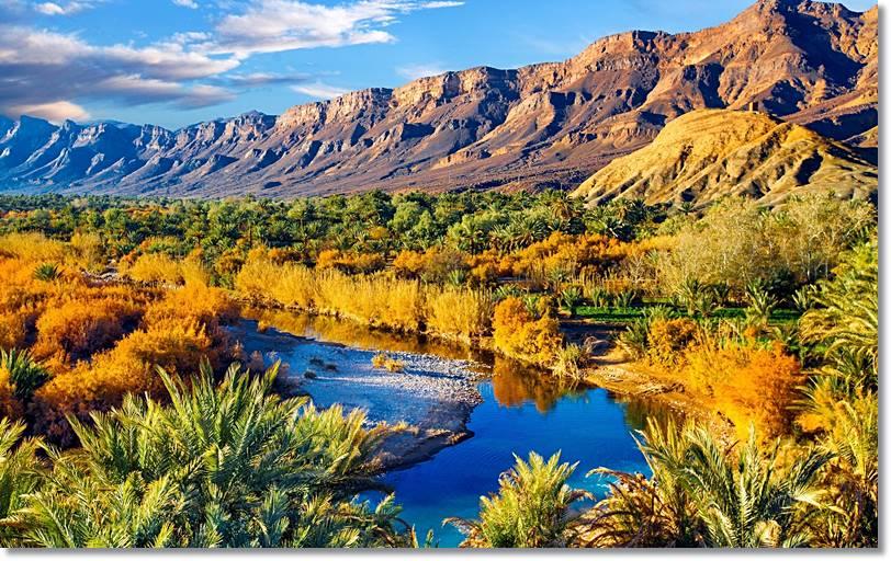 Las peculiaridades climáticas del Gran Atlas marroquí solo dejan el cultivo en los valles protegidos, en tanto las laderas se reservan para tos rebaños - etnias.net
