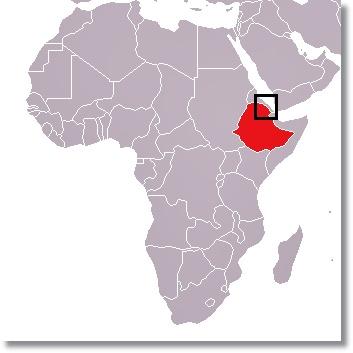 Localización del pueblo Afar en el norte de Etiopía - etnias.net