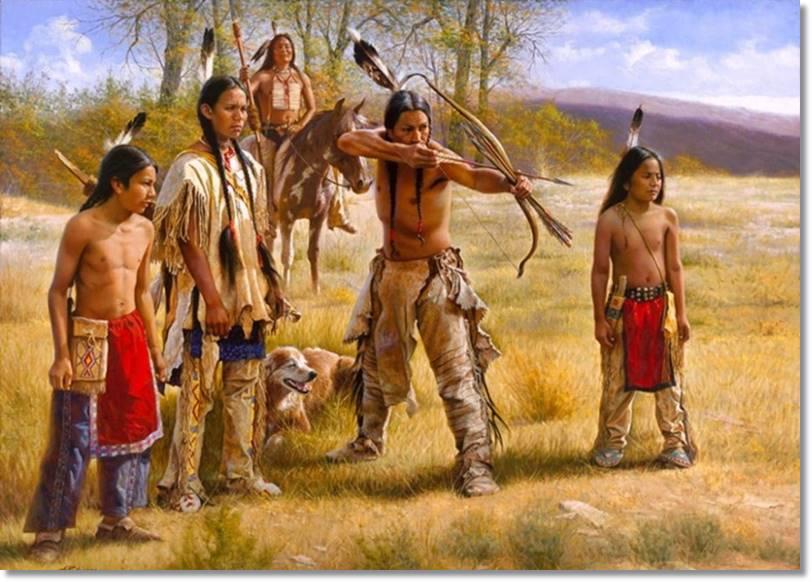 Los apaches al igual que otras tribus como los comanches o arapajos dependían de la caza para su alimentación