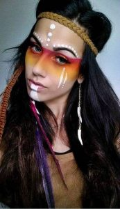 Maquillaje Indios Apache 1