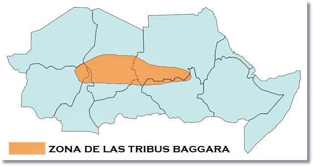 Región donde habitan los baggara - etnias.net