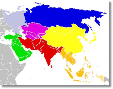 Principales divisiones étnicas de Asia - etnias.net