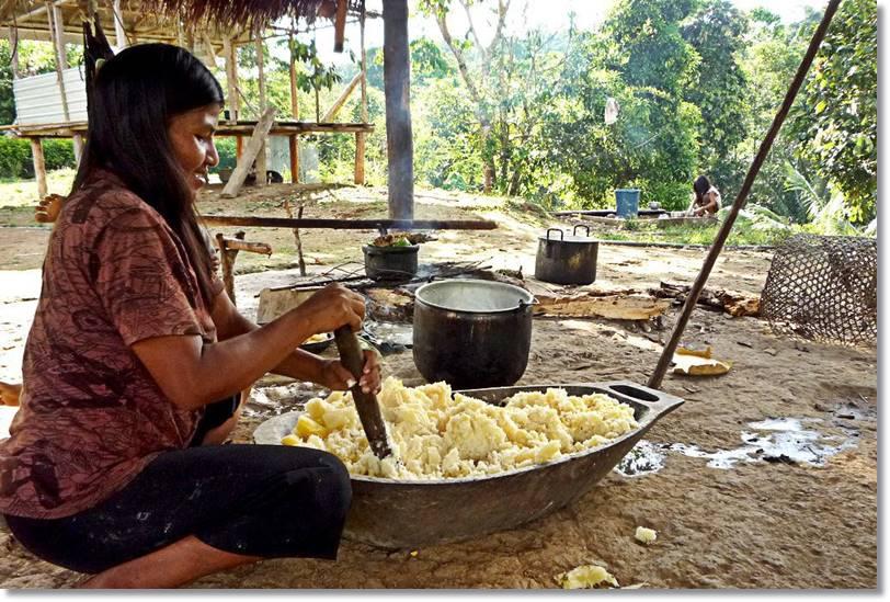 El masato se prepara singularmente para la fiesta de la luna - etnias.net