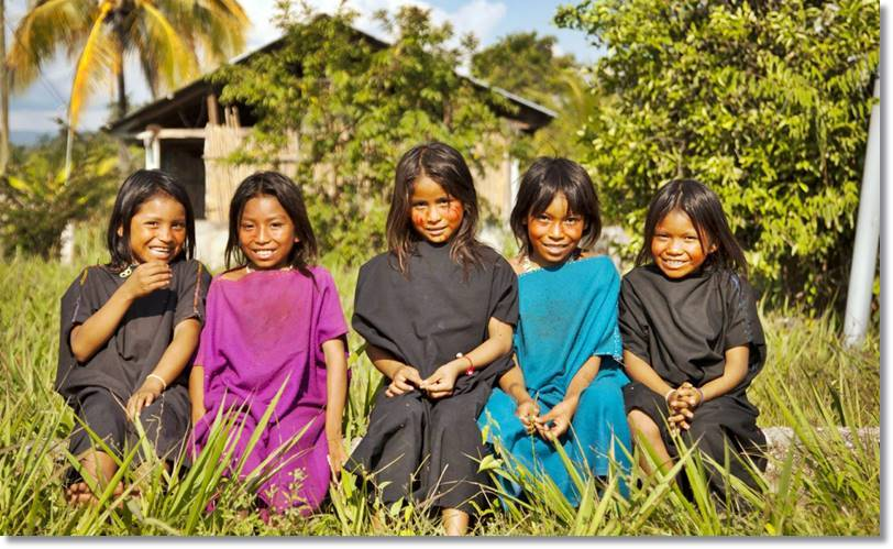 El número de pequeños asháninkas que el día de hoy se educan conforme con a las reglas de su pueblo es muy reducido - etnias.net