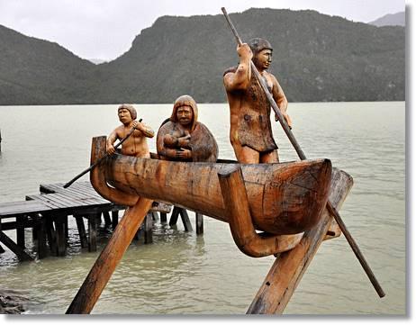 Escultura en homenaje a los indios alacalufes - etnias.net