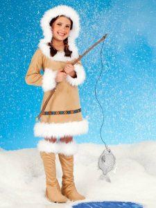 Disfraz de esquimal para niña 1