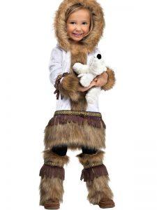 Disfraz de esquimal para niña 3
