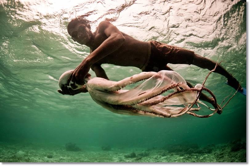 Los pescadores dejan secar al sol sus exóticas capturas - etnias.net