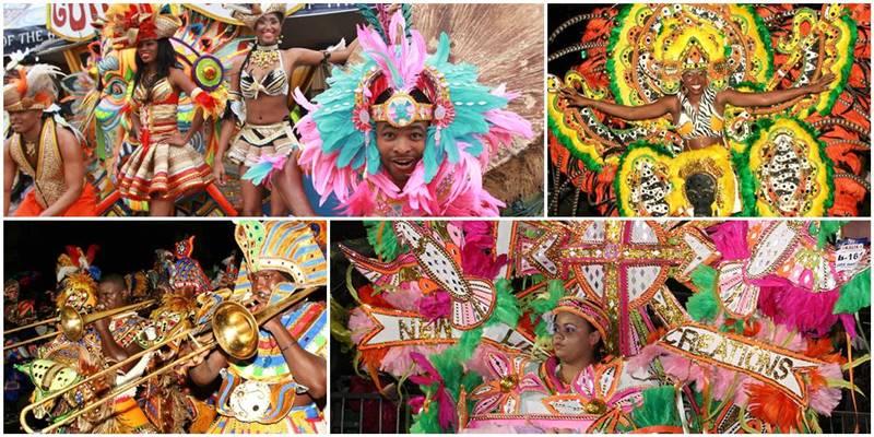 Festival carnaval de junkanoo en Bahamas - etnias.net