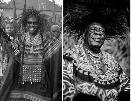 Dos personajes reconocidos como Fon de los Bafut