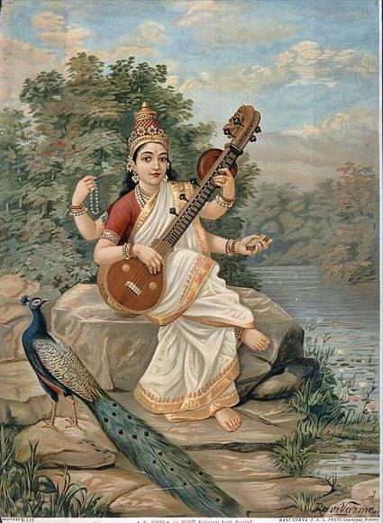 Caléndulas y jazmines son parte de las ofrendas presentadas a Kali, la diosa madre, y a Sarasvati, diosa de las ciencias y la armonía, esposa de Brahma