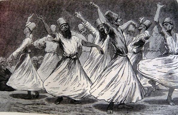 Derviches como una cofradía islámica